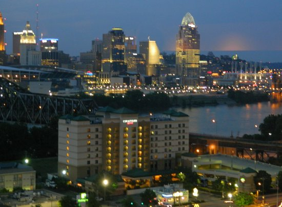 Cincinnati Skyline From Balcony At Night Picture Of