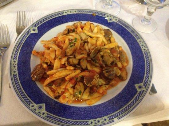 La Margherita Villa Giuseppina: Seafood pasta in La Margherita - delicious!