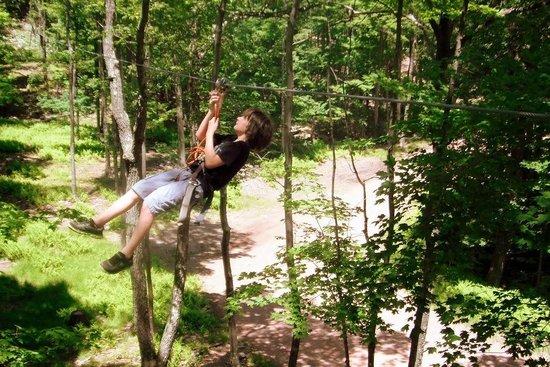 Skytop Lodge's Adventures: another zipline - one is 550' long!