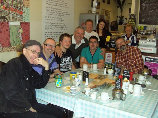 City Cafe: Some of the Tuesday Coffee Posse with Ken & Amy