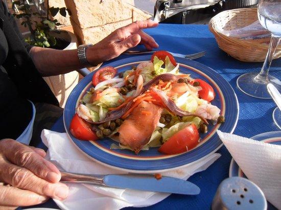 Pizzería Restaurante Di Mare: Vorspeisensalat.