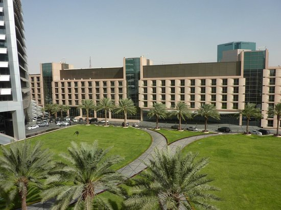 Al Faisaliah Hotel: From Hotel Suite 410's balcony, overlooking courtyard & facing Suites