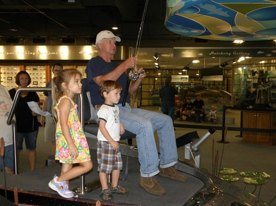 Go Fish Education Center: Grandpa even got in on the action.