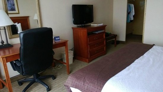 Cleveland Airport Hotel: work area in the room