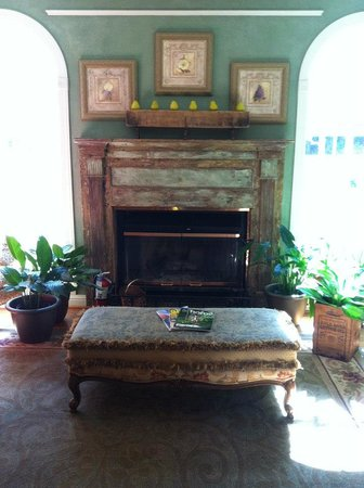 Butterfly Creek Inn Tryon: love this fireplace