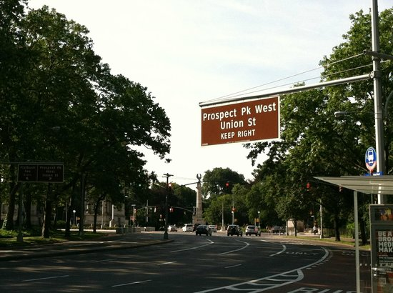 At Home In Brooklyn: Prospect Park West Sign