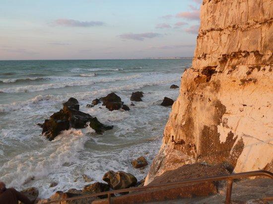 Hotel de la Terrasse : La mer à marée haute