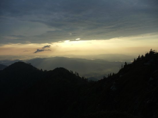 LeConte Lodge: Beautiful sunsets and sunrises