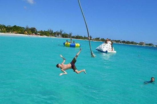 Bridgetown, Barbados: Have a swinging good time on our Rope Swing