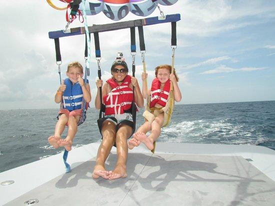 Daytona Beach Parasail Going Up