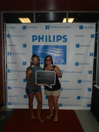 Us inside the Philips Arena
