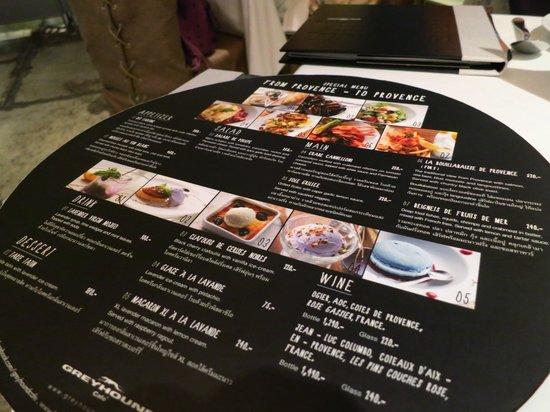 Greyhound Cafe Menu