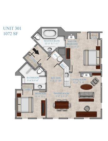 Atlantic House Inn : Typical floorplan