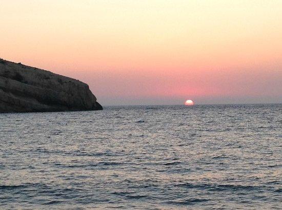 Hotel Zafiria : Sunset in Matala