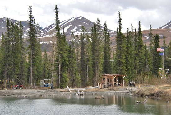 Adventure Denali: The main office across the lake