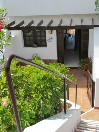 Las Rosas Apartments: Front terrace