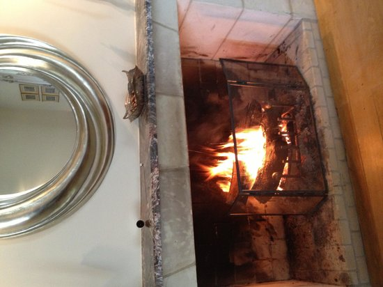 Loire Valley Retreat : Welcoming fire on a,unusual for the area, cool June day.