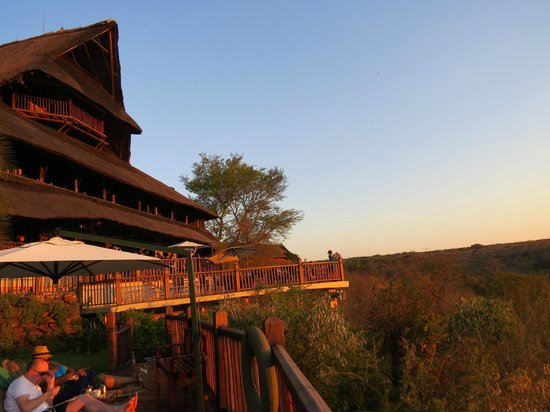 Victoria Falls Safari Lodge: Rear of Hotel