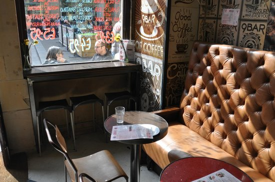 9 Bar Coffee: My seat in the sunlight from the window - (c) Brian Williams 2013
