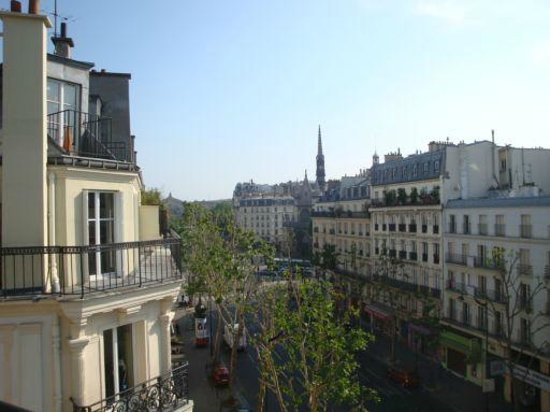 looking down from balcony picture of hotel liege strasbourg paris tripadvisor. Black Bedroom Furniture Sets. Home Design Ideas