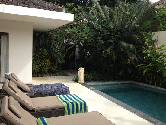Villa Coco: Entrance and pool/garden area