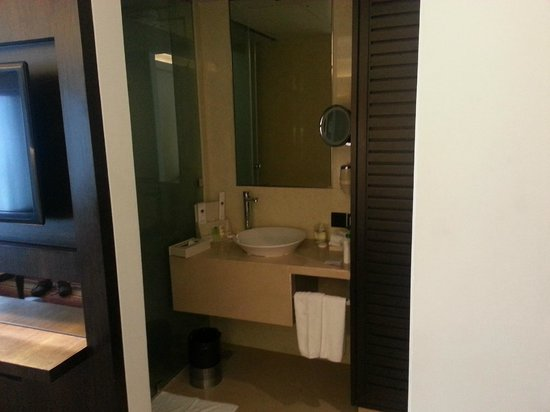 The Sahil Hotel: wash basin  Vanity mirror