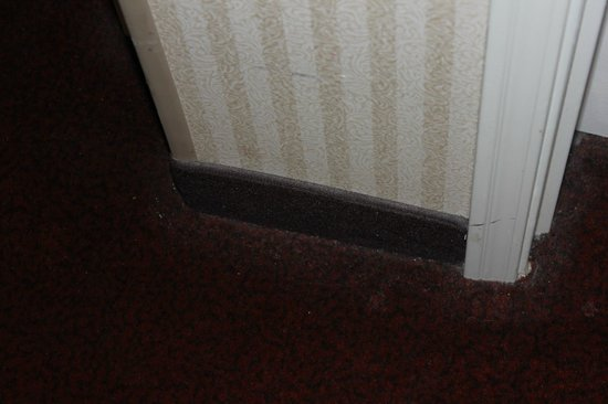 Holiday Inn Express Longmont: An example of the poor vacuum job they do