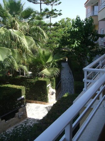 Apollonia Holiday Apartments: Side path from balcony - Daytime