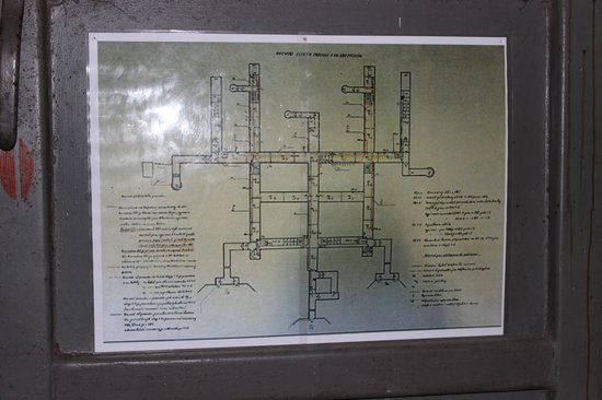 Communism and Nuclear Bunker Tour : Oversigts plan over bunkeren