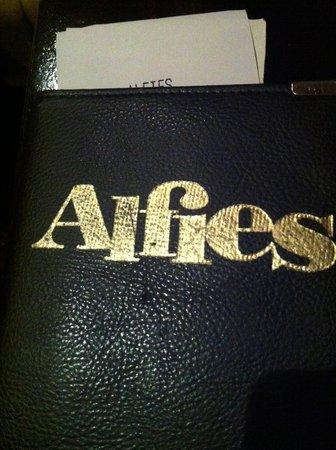 Alfie's Restaurant : il logo/insegna