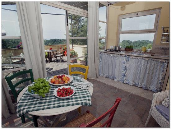 Agriturismo degli Alpaca: Appartamento con Veranda Panoramica