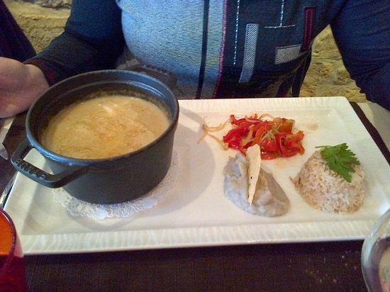 Boullabaisse normande homard et lotte photo de la fleur - Restaurant port en bessin fleur de sel ...