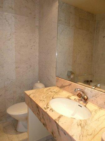 Hotel Beausejour Ranelagh : salle de bain de la 1ère chambre