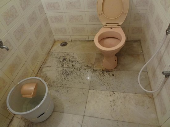 Hotel Kavitha International: Dirty Bathroom