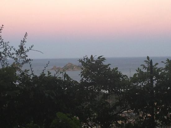 Il Faro : vista dal monolocale a cena