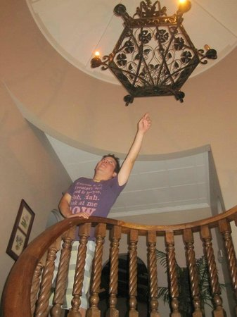 Hostel Casa Colon: Top of spiral staircase