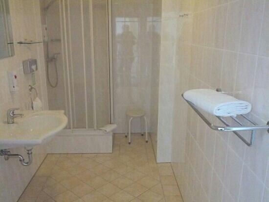 Haus Hufeland: Badezimmer des Einzelzimmer