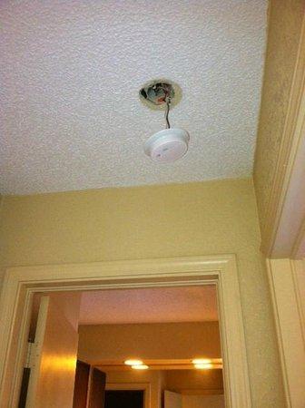 Americas Best Value Inn & Suites : Hotel room smoke alarm