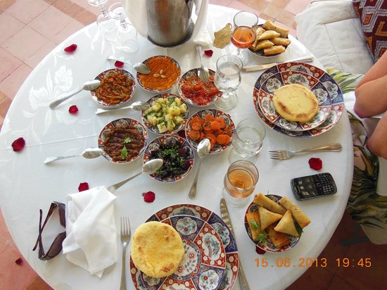 Riad Kniza: This was just the starter for our evening meal