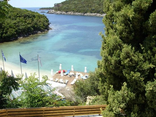 View from the restaurant over the private Beach
