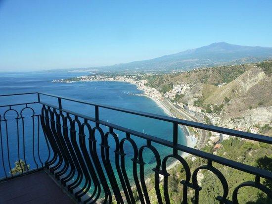 Hotel Villa Diodoro : Vue partielle du balcon chambre 316