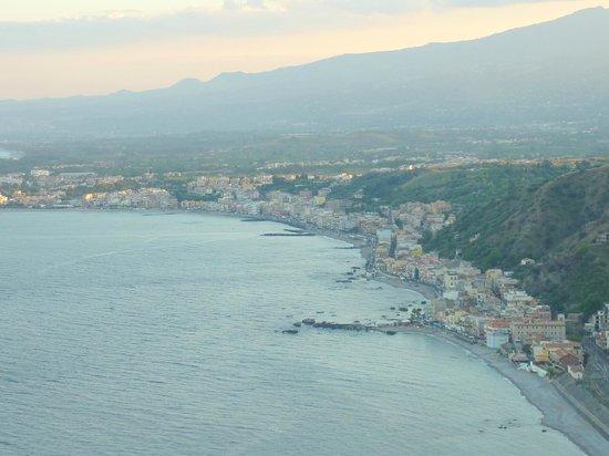 Hotel Villa Diodoro : Vue de la baie de Taormina