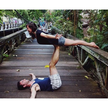 Radiantly Alive Yoga Studio: Practicing some newly aquired skills in Ubud
