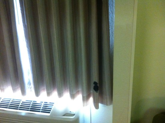 Extended Stay America - Dallas - Market Center: Stains on Curtains