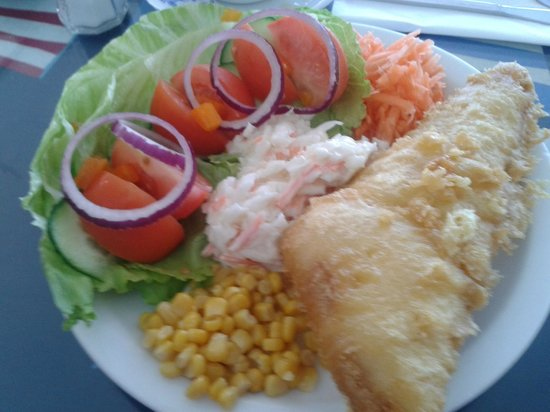 Kingfisher: Excellent, & Tasty Fish with Salad...