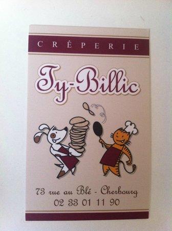 Le Ty-Billic: Carte de visite