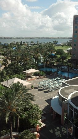 Moody Gardens Hotel Spa & Convention Center: View from our room, 6th floor