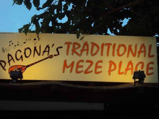 Platanias, Greece: pagonas meze place