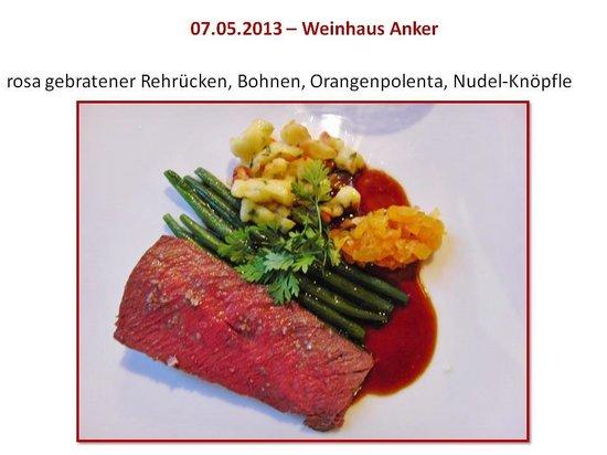 Weinhaus Anker: Rehrücken
