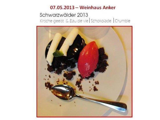 Weinhaus Anker: Dessert:Schwarzwälder-spezial